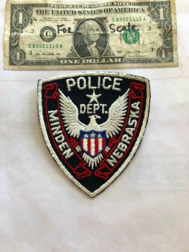 Old Minden Nebraska Police Patch Un-sewn in great shape