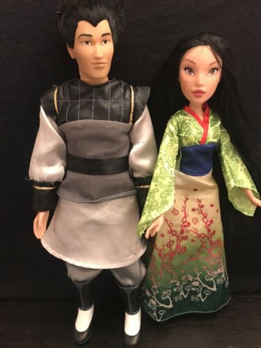 Disney Mulan Lot Of 2 Barbie Doll Prince General Li Shang Princess Mulan - $15.99
