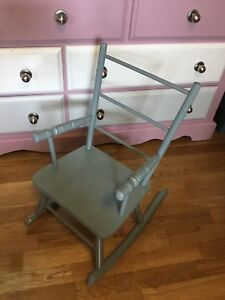 Kids grey rocking chair- available
