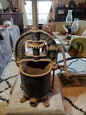 Vintage Enterprise Cast Iron 4 Qt Sausage Stuffer Lard Press Heavy Complete