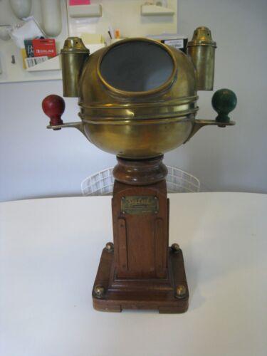 Antique Sestrel Type A Maritime Compass with Diving Helmet Cover Bergen Nautik
