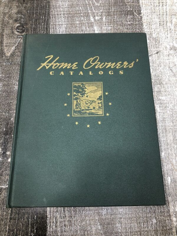 Vintage Original HOME OWNERS CATALOGS - 1940 Hardcover Guide Book