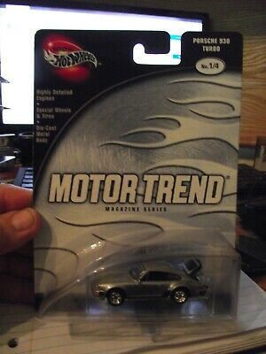 Hot wheels 1/64 Motor trend Porsche 930 turbo silver NIB