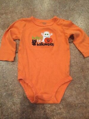 Adorable Long Sleeve My First Halloween Carters Size 6 Month Onesis!!