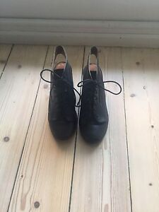 Wittner black opened toed boots size 9 Moonee Ponds Moonee Valley Preview