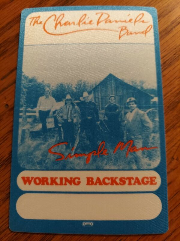 """THE CHARLIE DANIELS BAND OTTO BACKSTAGE PASS  FOR """"SIMPLE MAN TOUR"""""""