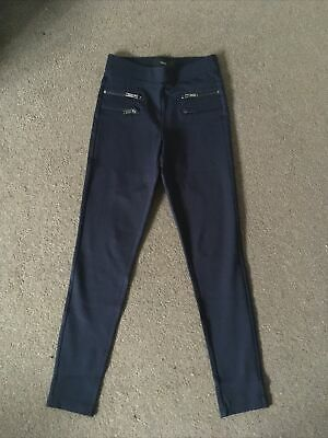 Next Navy Super Skinny Trousers 6R