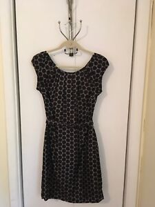Jacob Ladies Size 3-4 Silk Polka Dot Cap Sleeve Dress