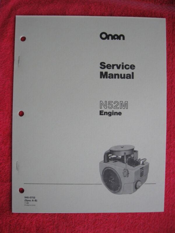 ONAN N52M ENGINE SERVICE MANUAL