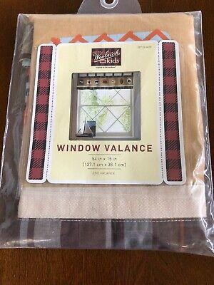 "New Woolrich Kids Khaki cotton window valance 54"" x 15"""
