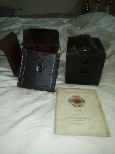 Antique Eastman Kodak No. 2 Bulls-Eye Kodak Model D Box Camera & Manual