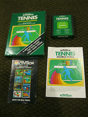 Tennis by ACTIVISION for ATARI 2600 ▪︎ COMPLETE IN BOX ▪︎ FREE SHIPPING ▪︎