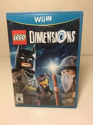 LEGO Dimensions (WII U) Game Disk Only! With Case & Instruction Booklet