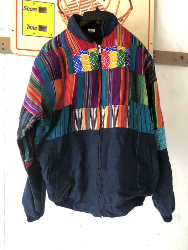 Handmade 100% Cotton Guatemala Zipper Jacket