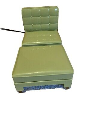 Mattel Barbie Green Chair And Ottamen Fold Out Bed 2005