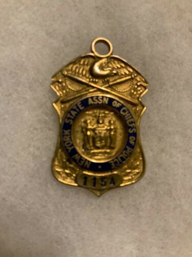 NEW YORK STATE ASSN. OF CHIEFS OF POLICE 10K GF Pin/Pendant #1154