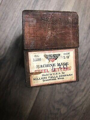 Millers Falls Tools Steel Letters Numbers 18 In Steel Stamps No.1500