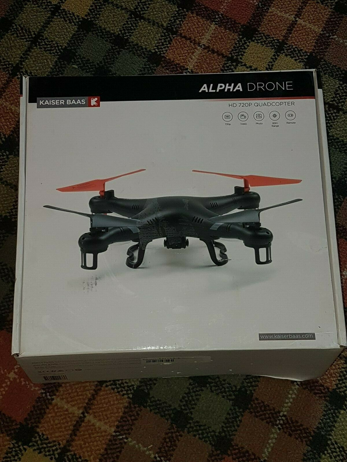 Kaiser Baas Alpha Drone with Controller with 720p HD Camera
