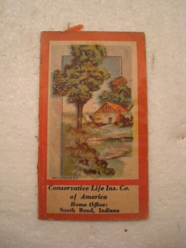 Vintage Needle Book Conservative Life Insurance of America advertising sewing