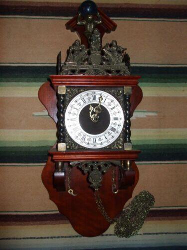Zaanse Warmink Dutch Wall Clock Vintage  8 day(Hermle WUBA Junghans Era)