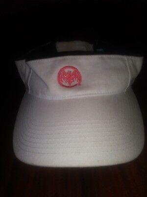 Bacardi Puerto Rico Sun Visor in White One Size 100% Cotton Gently Worn Cotton Worn In Hat