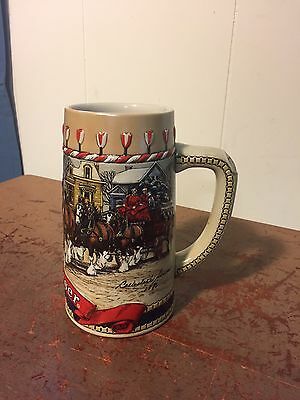 CERAMARTE 1986 Budweiser Clydesdale Collector Series Ltd Edition Beer Mug Stein