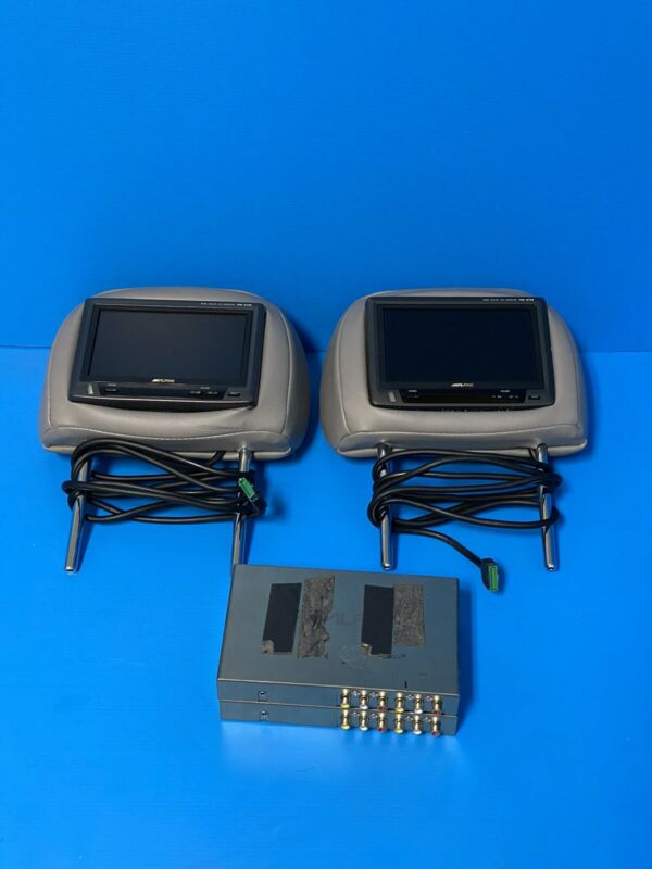 "Alpine TME-M750 6.5"" Color Mobile Monitor and Brain Module. Pair. Used."