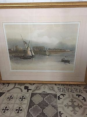 DAVID ROBERTS 1838 FRAMED PRICTURE.