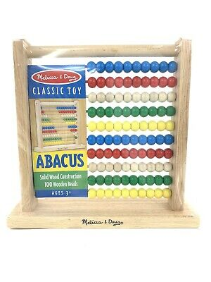 Melissa & Doug Abacus Classic Wooden Educational Counting Toy With 100 Beads