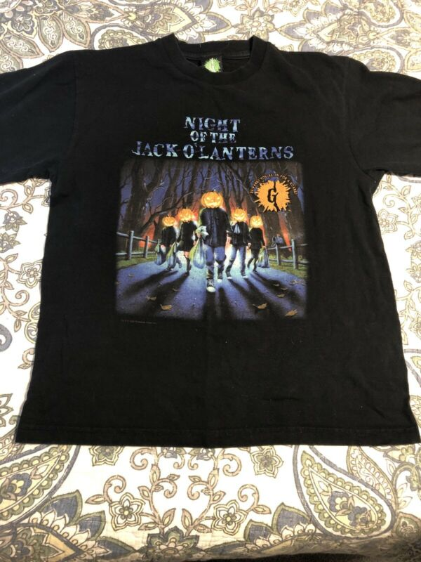 Goosebumps Vintage Shirt Night Of The Jack-o-Lanterns Size Child L 1996 Vintage