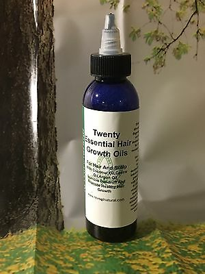 ( Natural Twenty Essential Growth Hair Oils 4oz Miracle Fast Herb Healthy Scalp)