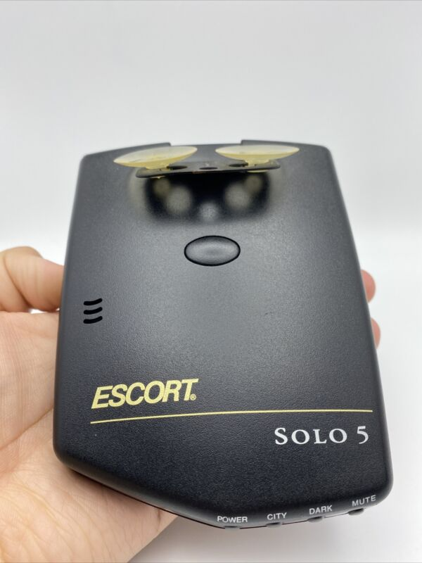 Cordless Escort Solo 5 Radar Detector - Fully Functional - AA Batteries Included