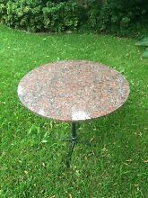 ROUND GRANITE TABLE Gladesville Ryde Area Preview