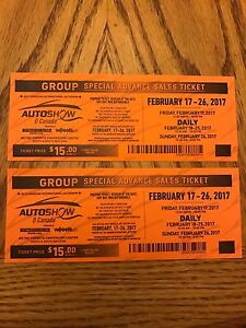 2 tickets to Toronto Car Show 25$ for both