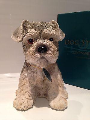 Minature Standard Schnauzer Puppy Love Ornament Figurine Figure Dog Gift