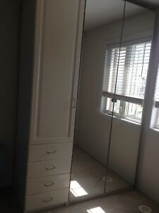 Pax IKEA White Wardrobe unit