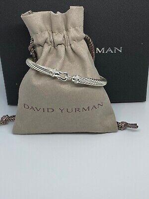 David Yurman Buckle Bracelet with Diamonds, 5mm Size Medium. Pre-owned David Yurman Buckle