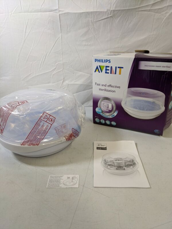 Philips AVENT Baby Bottle Microwave Steam Sterilizer Damaged Box New Item - Good