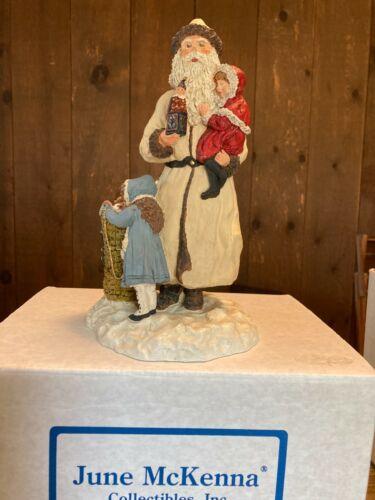 "June McKenna 11"" Santa White Christmas Register Edition Second Signing by Artist"