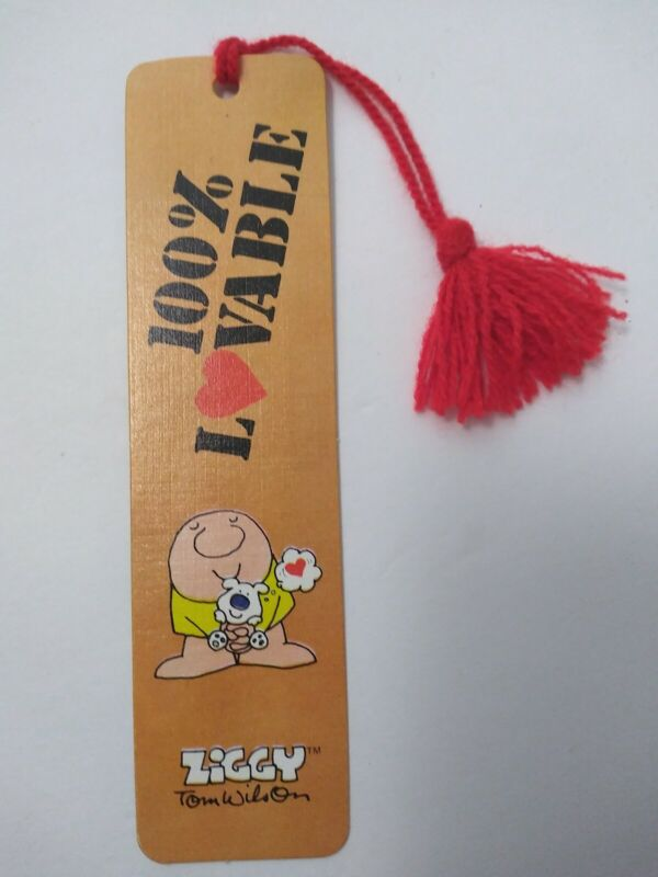 Ziggy Bookmark 100 % Lovable Tom Wilson 1980