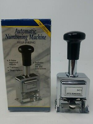 Rogers Automatic Numbering Pro Stamp Machine 4213 Self Inking Tested. G
