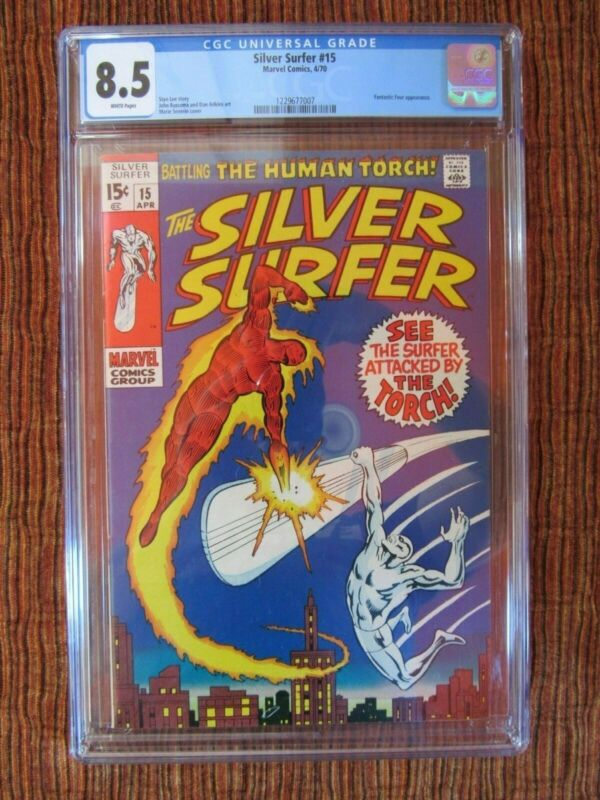 Silver Surfer 15 CGC 8.5 The Human Torch App