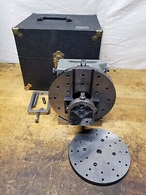 Harig Grind All No 2 Spin Indexer V Block Fixture 4.000 Center Height Wcase