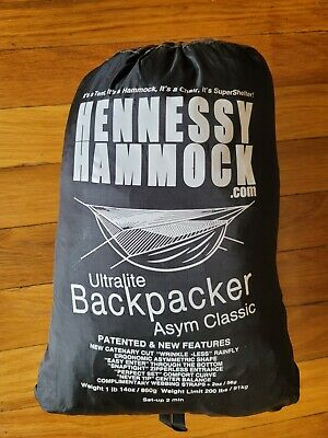 Hennessy Hammock Ultralight Asym Backpacker Classic(Bottom Entry)with snake skin