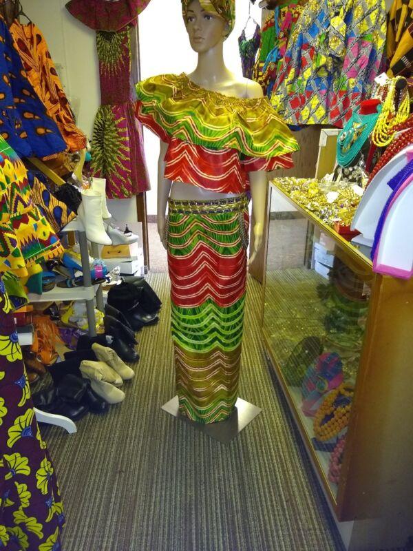 African Print Wax Skirt Set