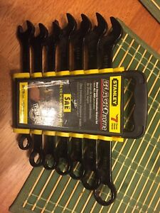 Stanley Chrome Combination Wrench set