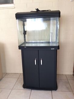 Aqua style 620L Fish Tank on Black Cabinet Redwood Park Tea Tree Gully Area Preview