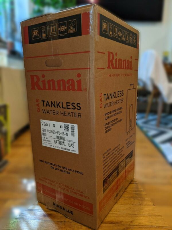 Rinnai tankless water heater natural gas V65i