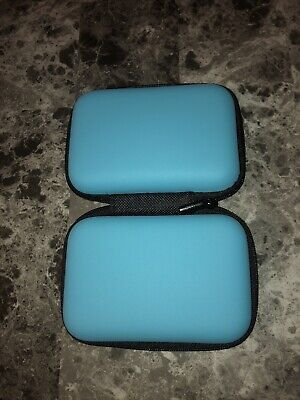 Finger Pulse Oximeter Storage Case Rate Monitor Zipper Cover Bag Pouch Blue