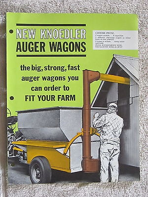 1962 Knoedler Streator Il Auger Wagons Fold Out Brochure